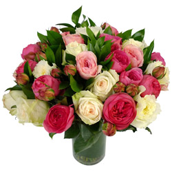 Assorted Garden Roses Arrangement