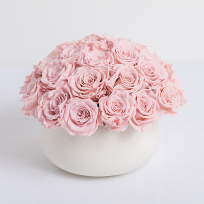 Pink Preserved Roses Arrangement