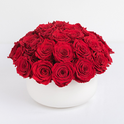 Red Preserved Roses Arrangement
