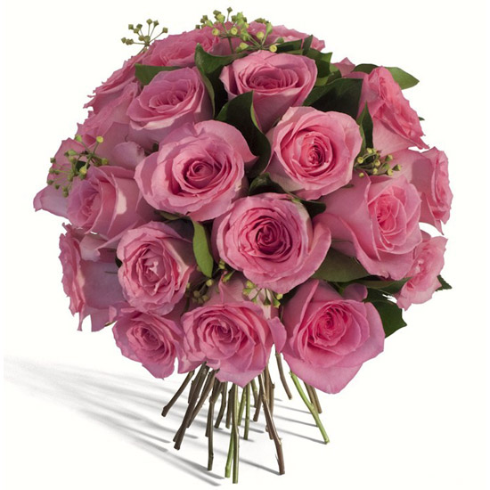 Pink Round Rose Bouquet