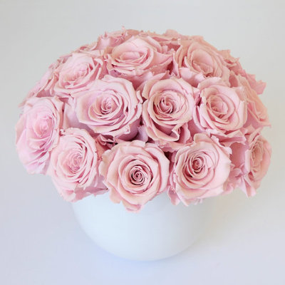 Preserved Pink Roses Arrangement
