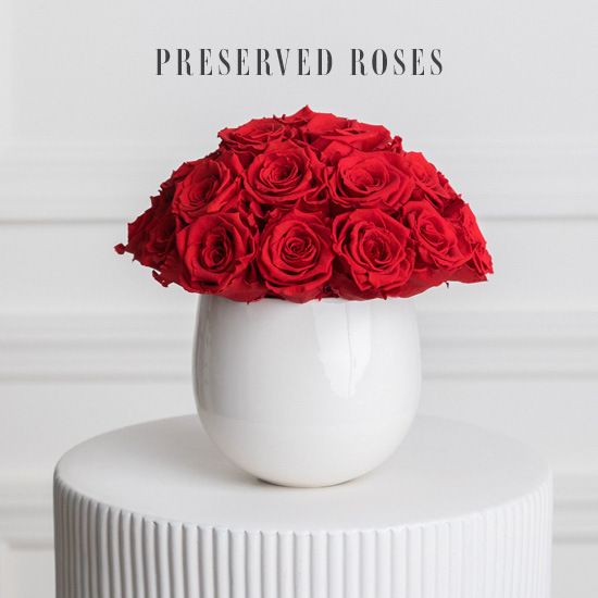 Red Preserved Roses arrangement