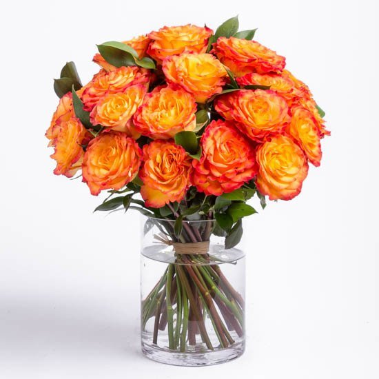 thank you flowers send thank you bouquet ode la rose - Red Garden Rose Bouquet