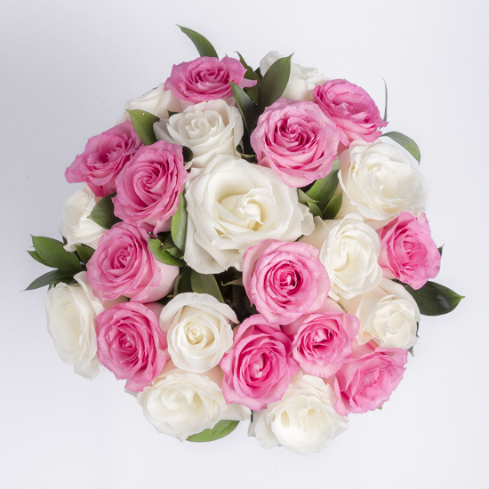 Roses pink and white rose bouquet ode la rose pink and white rose bouquet bouquet pictured 24 roses mightylinksfo