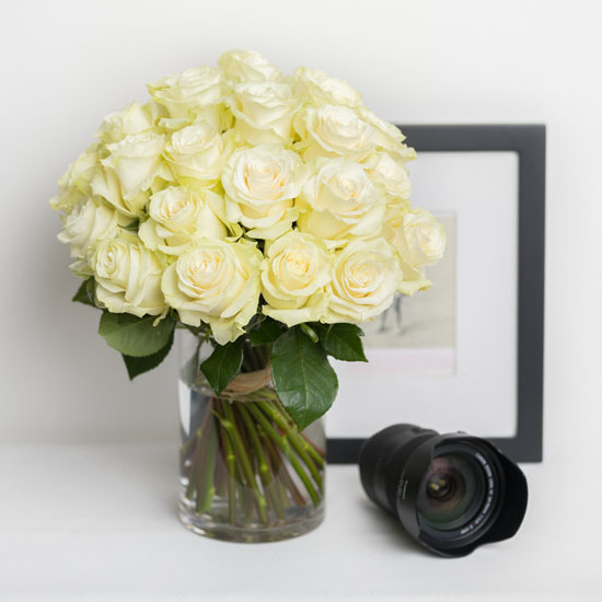 White roses delivery send white flower bouquets ode la rose rose bouquet white mightylinksfo