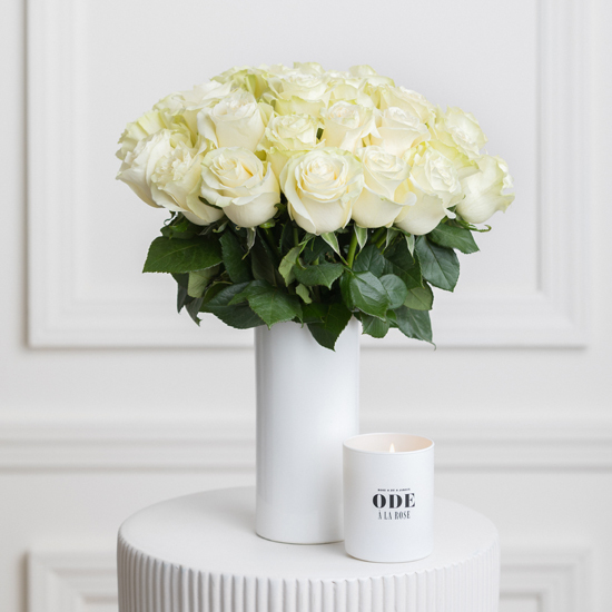 Blanche - White Roses Bouquet